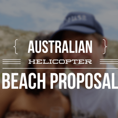 Australian Beach and Helicopter Proposal