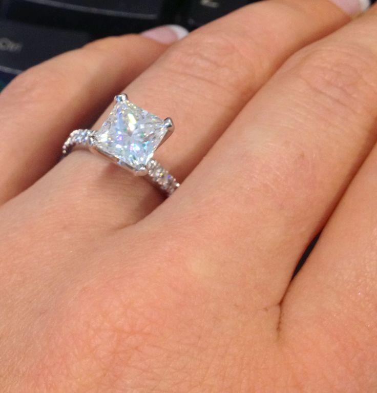 Large Square Diamond Ring Wedding Gallery