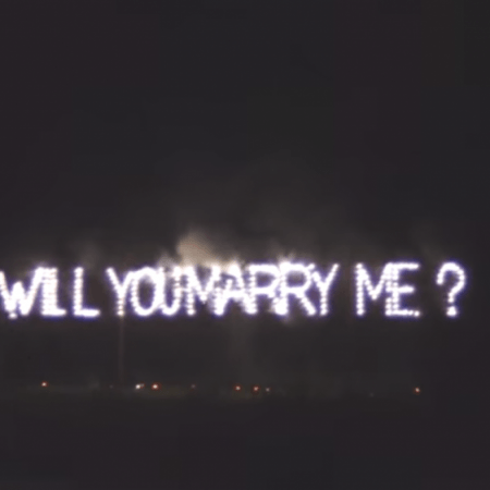 Marry Me Fireworks Proposal idea