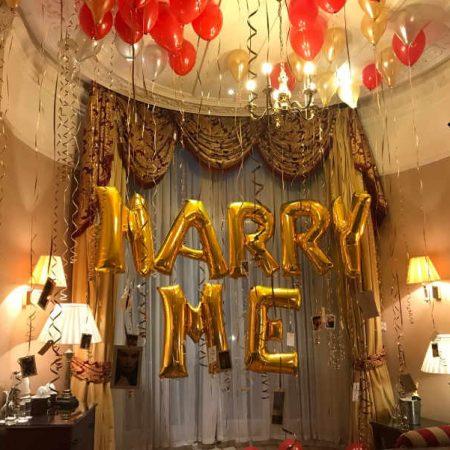 Romantic Hotel Room Proposal